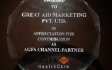 Appreciation for Contribution as AGFA